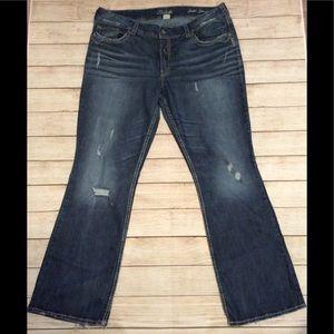 Silver Suki Surplus Flare Darkwash Jeans